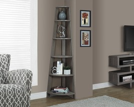 Corner Shelf Stand Wood 5 Tier Display Storage Furniture Bookcase Tall A... - $155.97