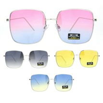 Womens Large Rectangle Butterfly Designer Fashion Diva Sunglasses - $12.95