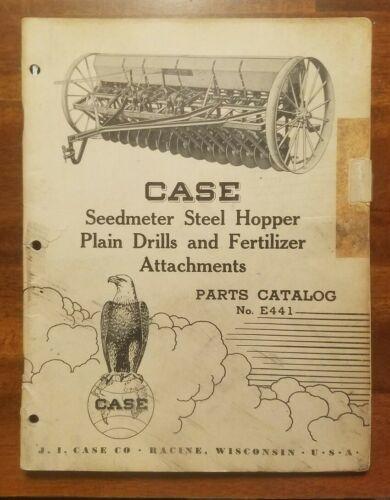 Vintage Case Service Parts Catalog E441  Seedmeter Steel Hopper Plain Drill 1952
