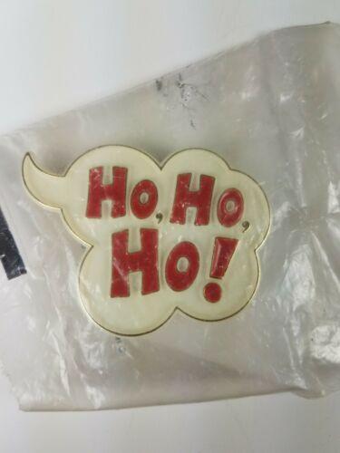 1982 Hallmark Holiday Christmas Pin White Thought Bubble Cloud Ho, Ho, Ho