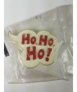 1982 Hallmark Holiday Christmas Pin White Thought Bubble Cloud Ho, Ho, Ho - $9.65