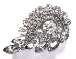 Vintage Juliana D & E Crystal Rhinestone Tiered Big Swirl Brooch   - $39.00