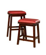 """DTY Indoor Living Cortez Leather Stool, 24"""" Counter or 30"""" Bar Height - $110.95"""