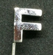 Vintage Silver Tone Block Letter F Stick Pin - $5.93