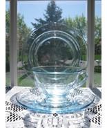 Fostoria AZURE BLUE FAIRFAX 4 Pc. Place Setting - $18.00