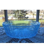 Antique EAPG Two Panel BLUE Oval Bowl - $23.00