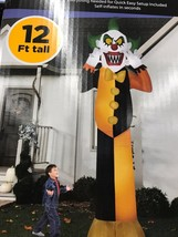 12ft Gemmy Airblown Inflatable Halloween Scary Horror Clown Holiday Yard... - $69.08