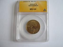 2000-P, Sacagawea Dollar , MS 64 , ANACS - $13.00