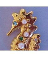 Avon Sea Horse Pin with Pearls & Rhinestones be... - $6.95