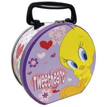 """Looney Tunes Tweety Bird """"Tweetheart"""" Collectible Circular Tin Tote, New... - $16.44"""