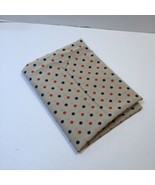 """2 Yards Beige with Red Blue Dots Silky Blouse Fabric 44"""" wide Rayon - $14.50"""