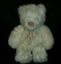 """14"""" VINTAGE SPANKY WHITE TEDDY BEAR GUND STUFFED ANIMAL PLUSH TOY BOW SI... - $55.17"""