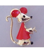 FREEBIE Tiny Little Mouse Pin with red & black ... - $0.00