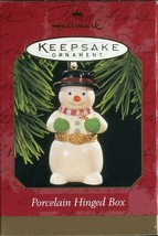 1997 New in Box - Hallmark Keepsake Christmas Ornament - Porcelain Hinge... - $5.93