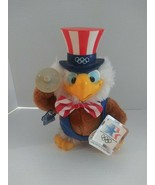 """Sam Eagle Olympic Plush Barbell Weightlifting Los Angeles 1984 10"""" - $15.83"""