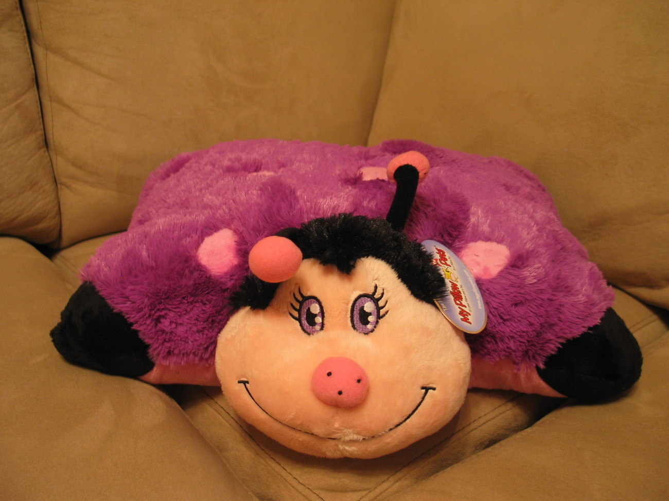 LARGE  Purple Lady Bug Pillow Pet Limited Edition