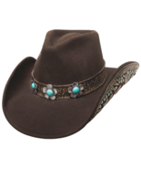 Bullhide Sweet Emotion Wool Cowgirl Hat Floral Conchos Turquoise Stones ... - $127.47 CAD