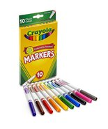 Crayola Original Marker Set, Fine Tip, Assorted Classic Colors, Set of 10 - $9.79