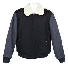 J Crew Men's Wallace Barnes Sherpa Collar Contrast Wool Bomber Jacket S ... - $139.09