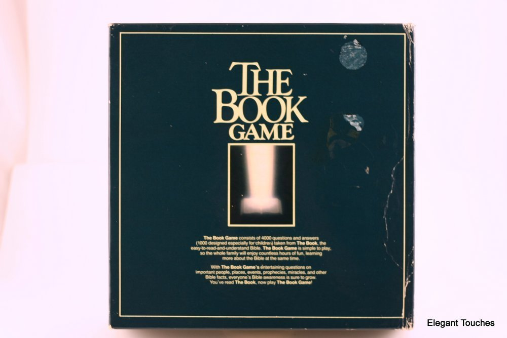 THE BOOK GAMEBIBLE TRIVIA BOARD GAME