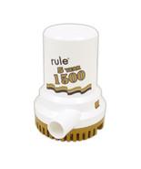"Rule 1500 G.P.H. ""Gold Series"" Bilge Pump - $158.52"