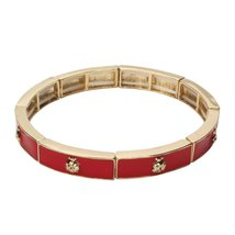 Inspired Silver Red & Gold Plated Stylish Ladybug Stretch Jewelry Bracel... - $494,26 MXN