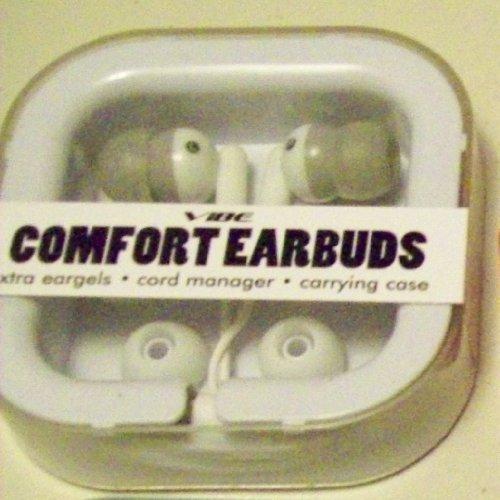 Vibe Comfort White Earbuds Gel Ipod Stereo Headphones