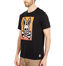 Men's Psycho Bunny Short Sleeve Rawson Graphic Tee Skull Logo Black T-Shirt image 5