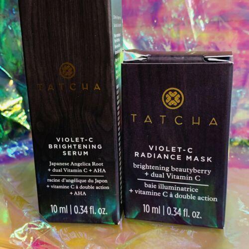 New In Box FRESH Made2020 Tatcha Violet C Serum & radiance Mask 10mL/ea