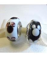 Pandora Sterling Silver Minnie and Mickey Murano Bead Gift Set - $50.00