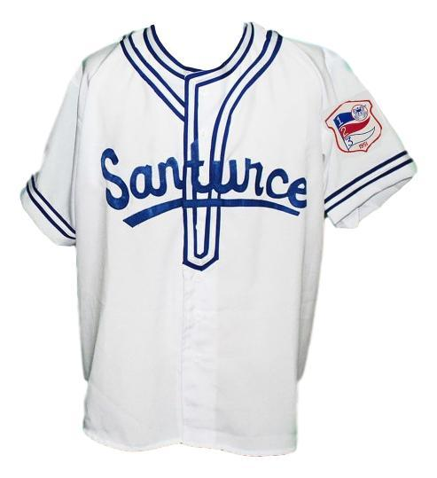 Roberto Clemente #21Santurce Retro Baseball Jersey White Any Size