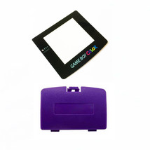 New GRAPE PURPLE Game Boy Color Battery Cover + New Screen Lens GBC Repl... - $7.54