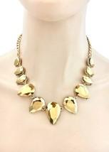 Kristall Dorado Statement Abend Halskette Ohrringe, Braut, Festzug, Drag Queen - $28.72