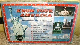 1982 America USA  Trivia Board Game  Know Your Cadaco Complete teach learn play  - $28.00