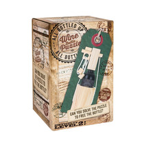 New! PROFESSOR PUZZLE All Bottled Up THE GREAT ESCAPE Wine Bottle WOOD P... - $16.99