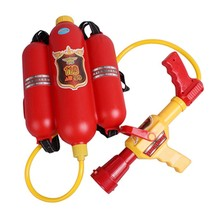Firefighter Water Sprayer Gun Fireman Sam Pressure Toy With Backpack Out... - $24.99