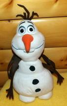 "Disney Frozen OLAF Plush 15"" Snowman BackPack Carrier Zip Tote - $9.59"