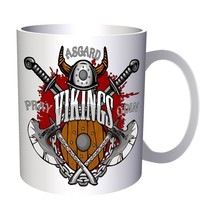 Asgard Vikings with Swords 11oz Mug w760 - $10.83