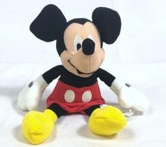 "Disney Store Classic MICKEY MOUSE 8"" Beanbag Plush 2001 EUC - $8.81"