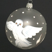 Hand Painted Owl Christmas Limited Edition Ornament Mouth Blown Italy - $30.69