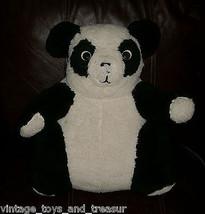 """16 """" Vintage Panda Orsacchiotto Bianco e Nero Peluche Peluche Antico Vecchio - $30.73"""