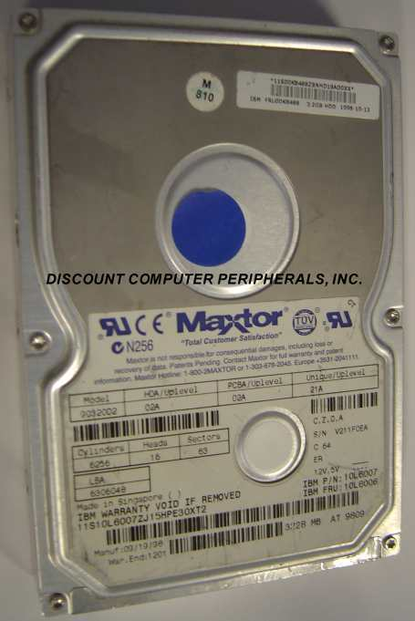 3.2GB 3.5IN IDE Drive Maxtor 90320D2 Tested Good Free USA Ship Our Drives Work