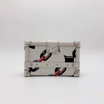 100% AUTH LOUISE VUITTON PETITE MALLE EPI WHITE CHAIN BAG LEATHER image 3