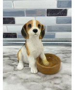 Sherratt & Simpson Beagle Figurine Puppy With Paw In Water Bowl #89008 E... - $22.23