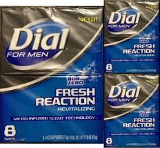 24 Bars Dial For Men Fresh Reaction, Sub Zero Glycerin Bar Soap-Lot of 3... - $22.25