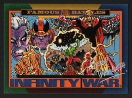 Brad Vancata SIGNED 1993 Marvel Universe Art Card Infinite War / Gauntlet Thanos - $19.79
