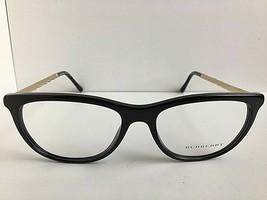 New BURBERRY B 8921 3001 52mm Black Gold Cats Eye Women's Eyeglasses Frame - $89.99