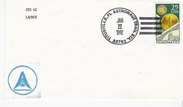 STS 42 LAUNCH TITUSVILLE FLORIDA ASTRONAUT TRAIL JANUARY 22 1992 - $1.78
