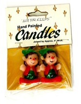 Vintage Wang's Just for Keeps Hand Painted Candles Christmas ELF GNOME 1... - $14.25