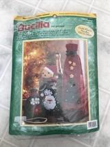 Bucilla Felt Applique Kit Set of 3 Christmas Gift Bags 84085 Vtg 1999 - $25.06